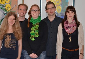 Das sind wir (Rachel Beckmann, Johannes Vehring, Greta Greving, Alexander Mengelkamp, Tina Kollenberg v.l.n.r)
